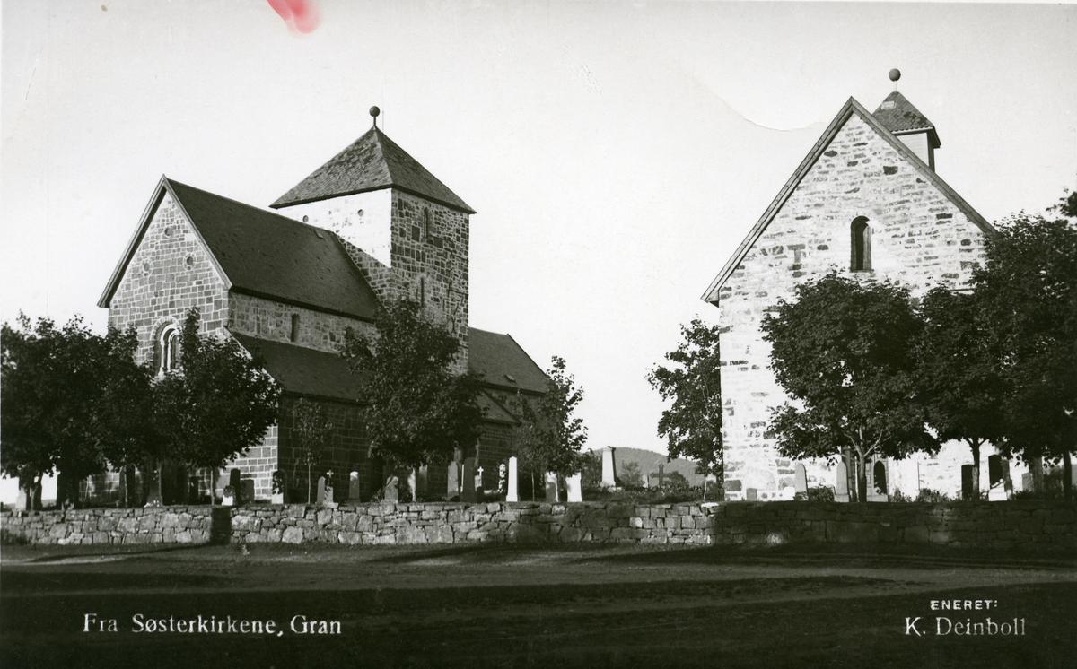 Søsterkirkene på Gran.