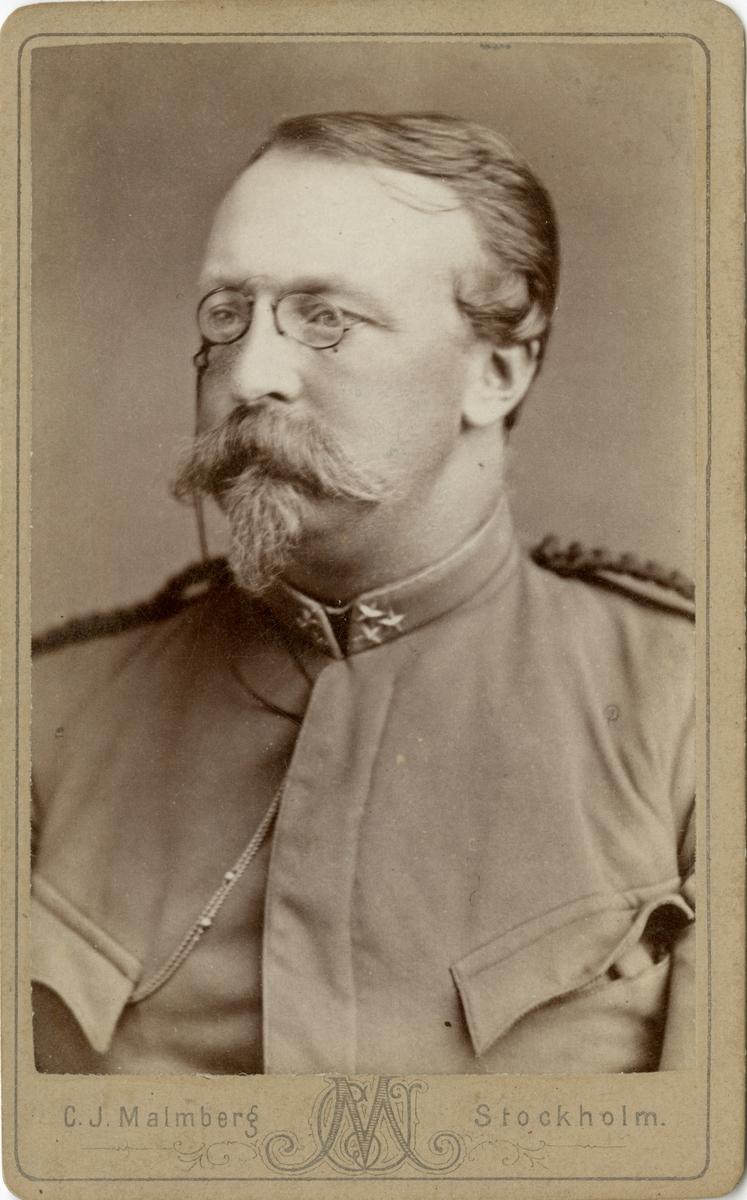 Porträtt av Carl Werner Stuart, kapten vid Fortifikationen.