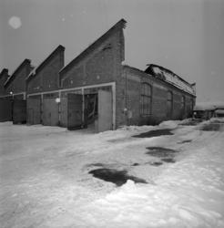 Taket på stans bussgarage vid Landsvägsallén, tidigare spårv