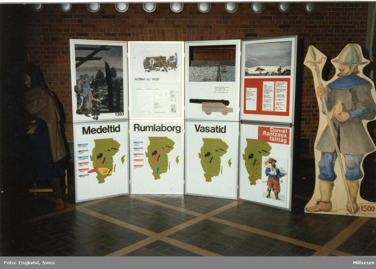 Muséum, A 6. Prel. i marketenteriet. Skärmutställning.