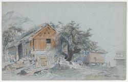 På gården Helland i Hardanger [Tegning]