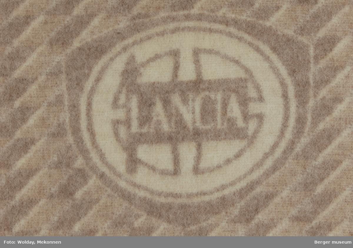 Bilpledd  Logo Lancia Kvalitet 180, Bredde 130