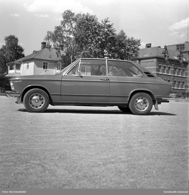 En BMW på läroverksplanen fotograferad för Motor Nord.