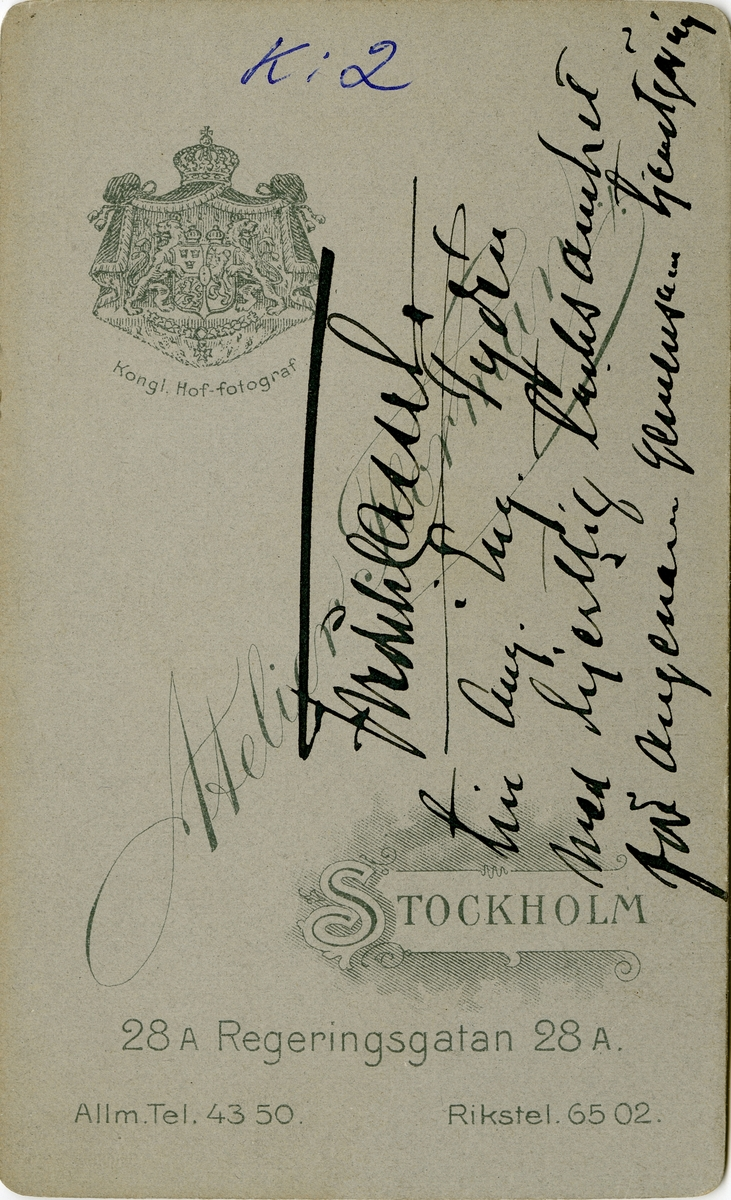 Porträtt av Fredrik Gustavf Cassel, ryttmästare vid Livregementets husarkår K 3. Se även AMA.0007050, AMA.0008540 och AMA.0009678.