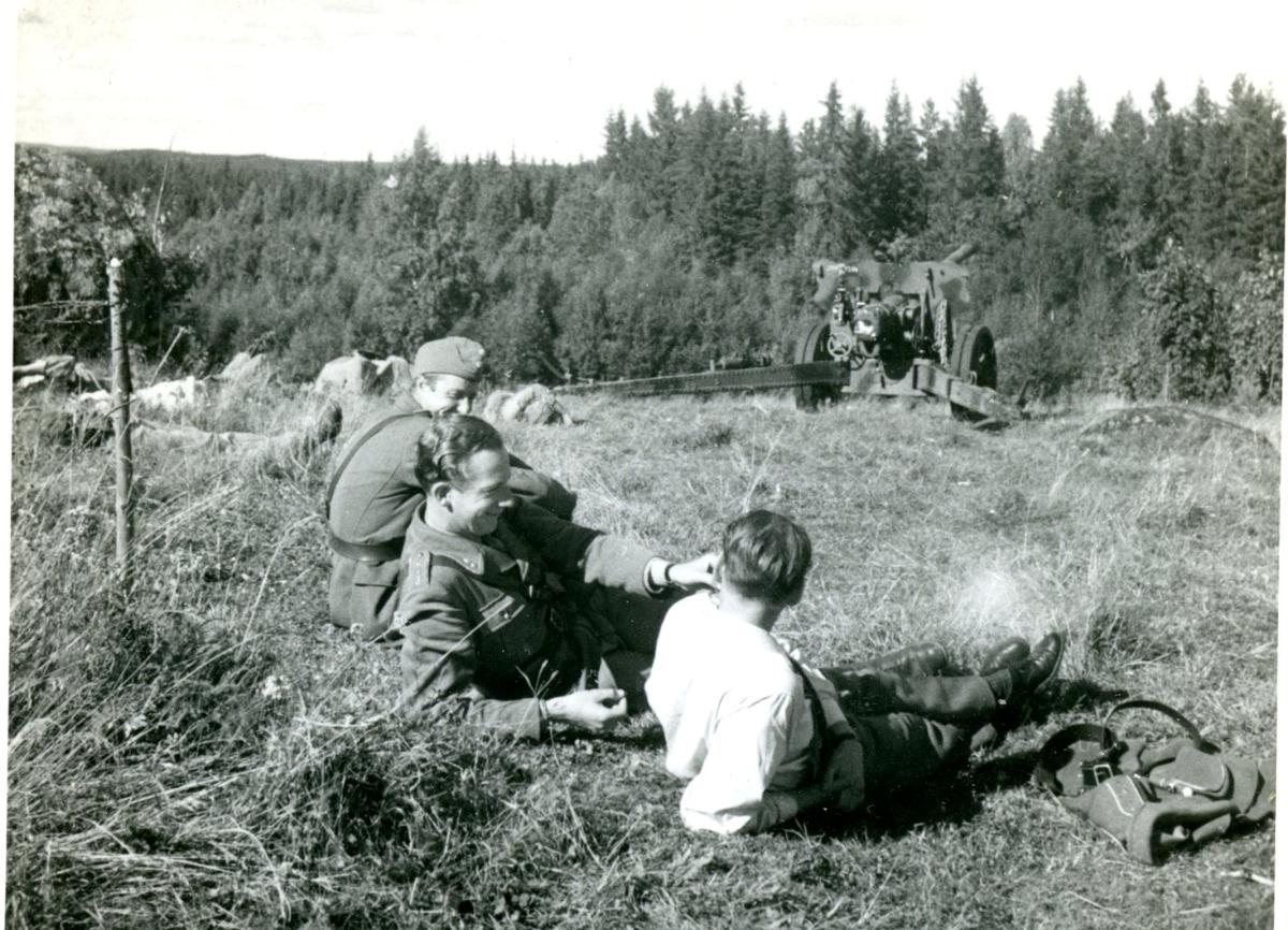 Fälttjänstgöring. Villingsberg, Närke.