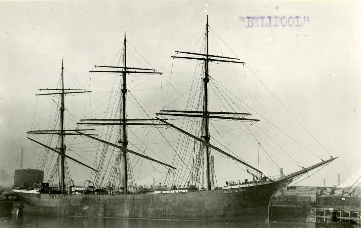 Fullrigger 'Bellpool' (ex britisk s.n.)(b. 1904, A. Rodger & Co., Pt. Glasgow, Skottland)