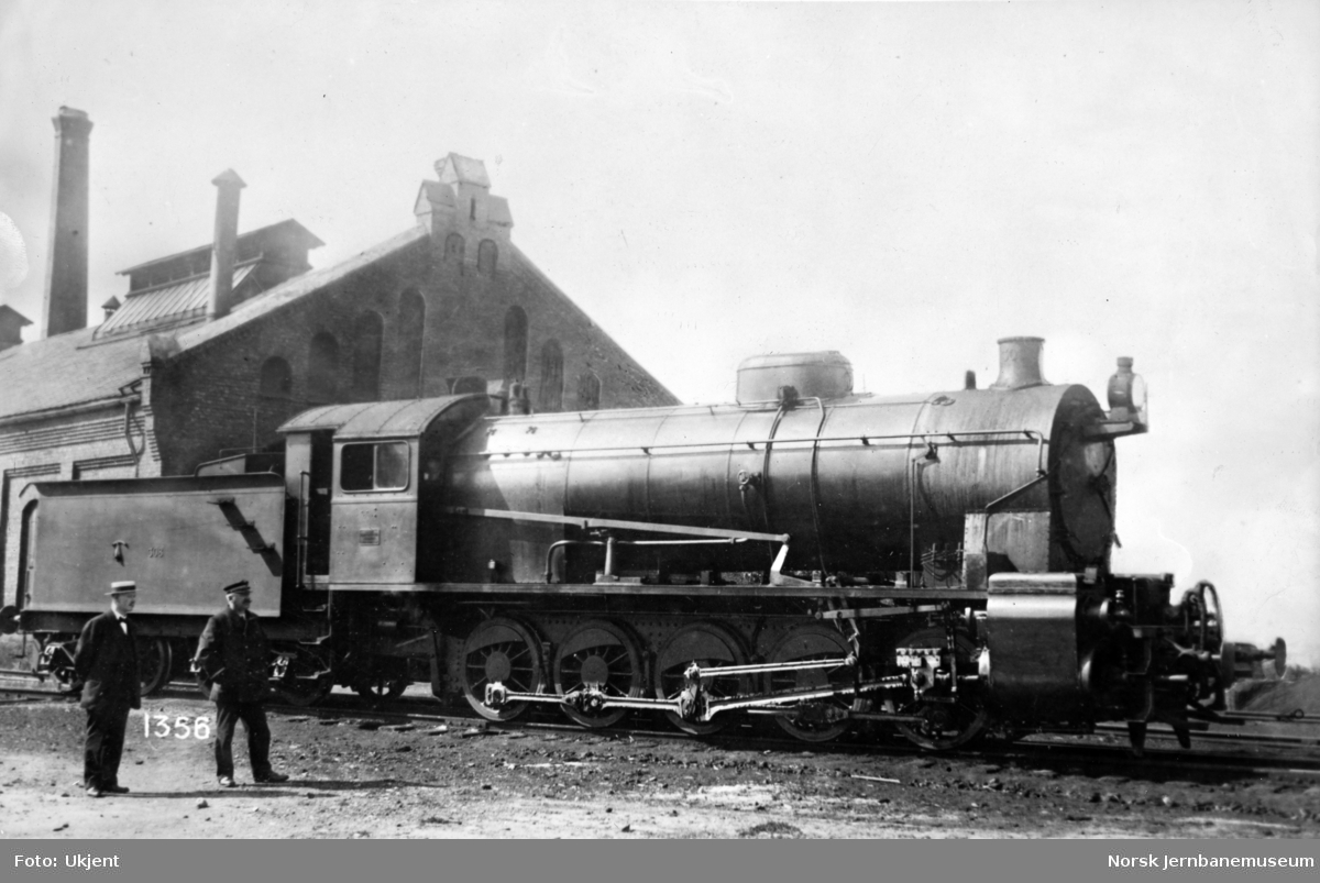 NSB damplokomotiv type 29a nr. 308, leveransefoto fra Hamar Jernstøberi