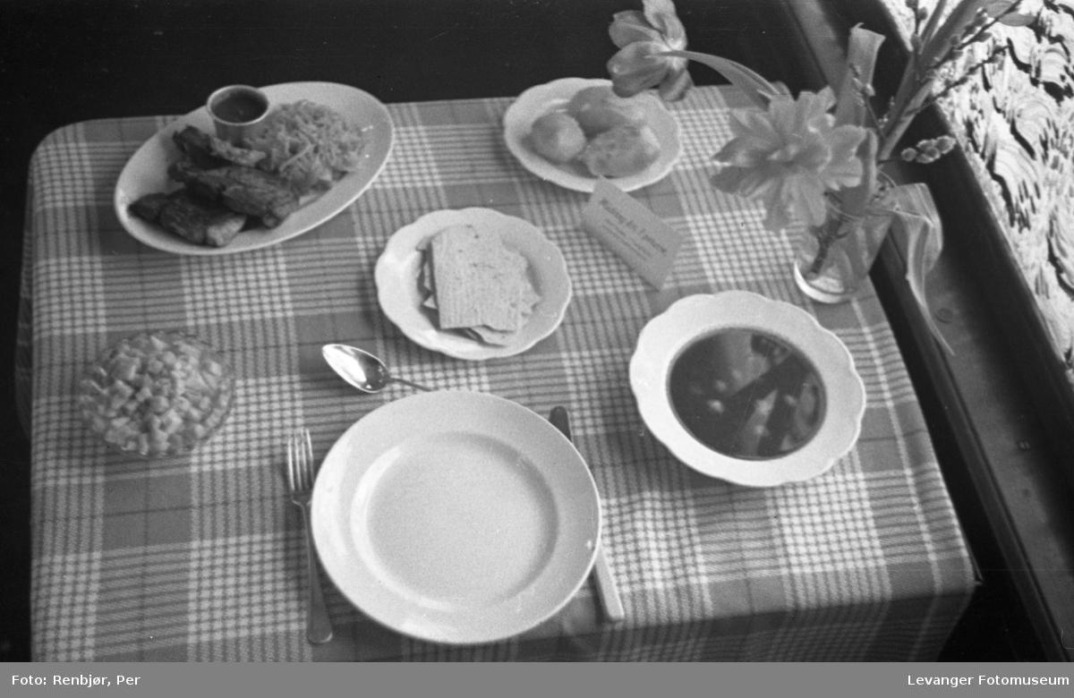 Kostholdsmessa i 1936, tekst middag for en perso