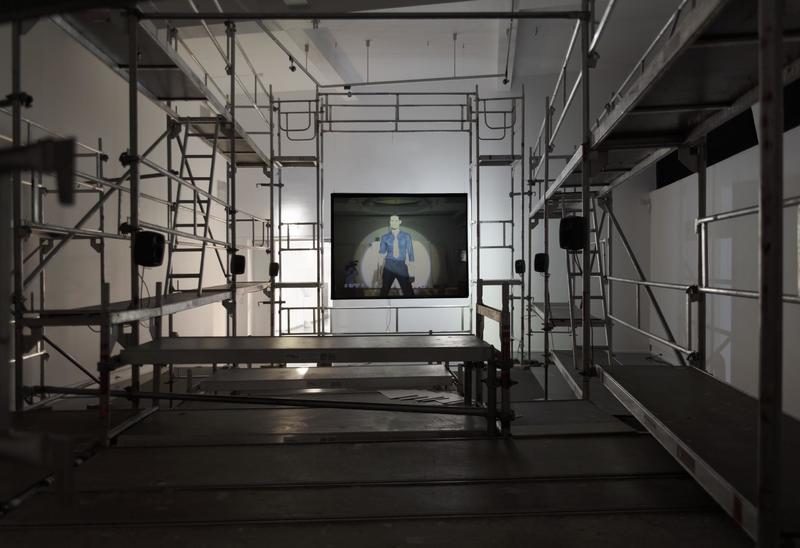Lars Laumann, Season of Migration to The North, 2015. Installation view, Kunstnernes hus 2015.