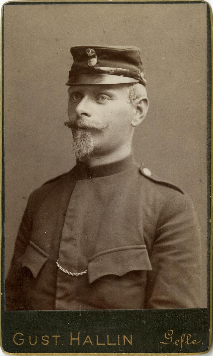 Porträtt av okänd soldat.