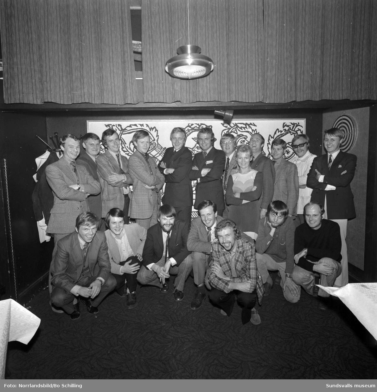 Marknadsföreningen i Sundsvall. Gruppbild av junioravdelningen 1971.