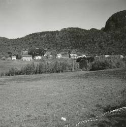 Prospektfotografi av flere gårdstun på Austrem (øvste Aksla)