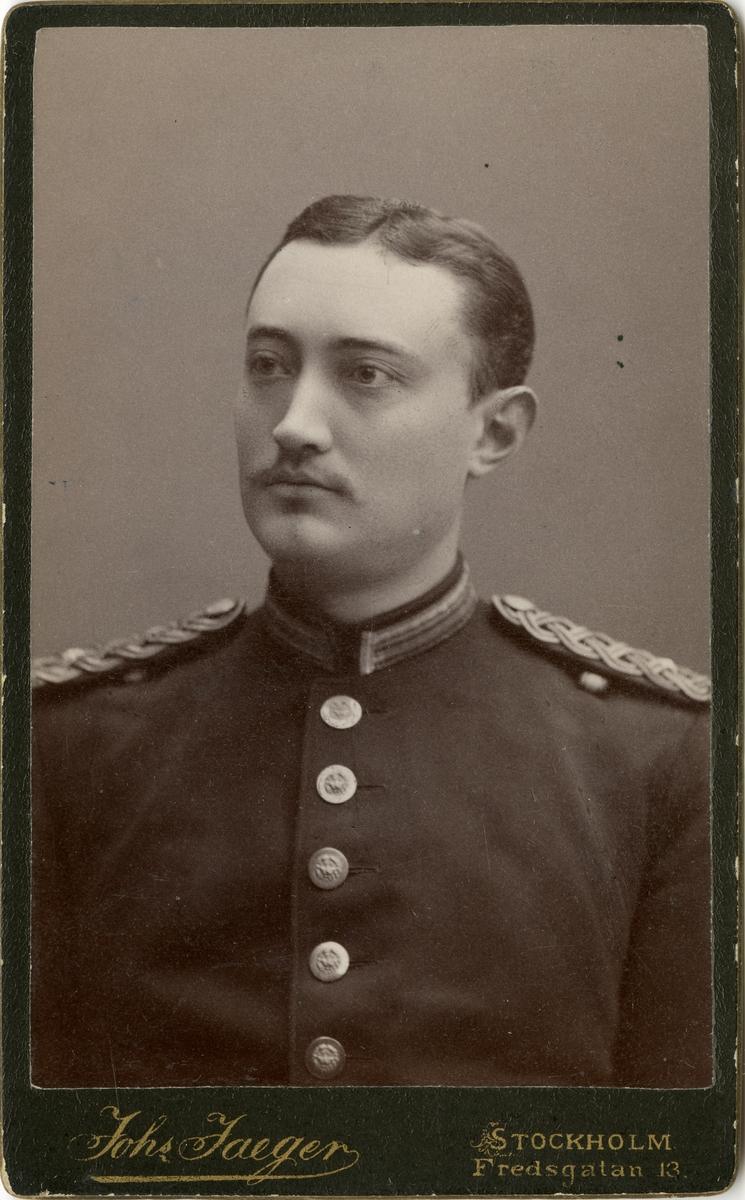 Porträtt av okänd underlöjtnant vid Västgöta regemente I 6.