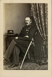 Porträtt av okänd officer vid Kronobergs regemente I 11.