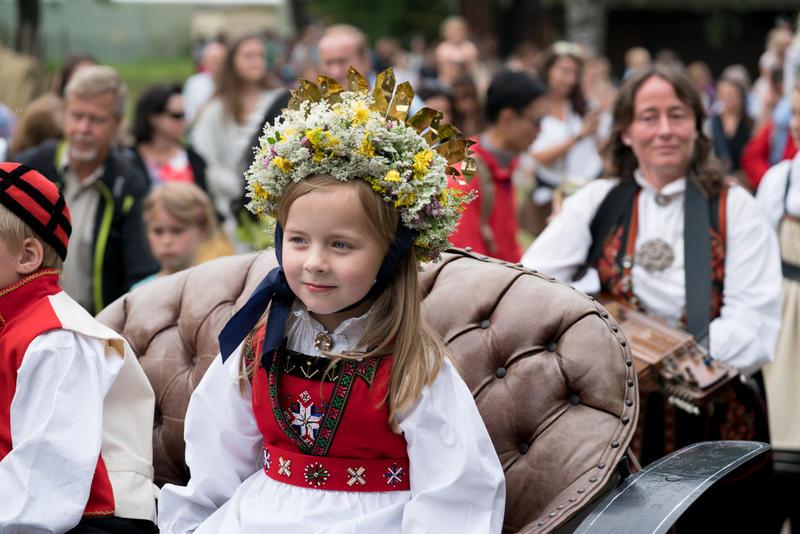 Sankthans på Norsk Folkemuseum. Foto: Morten Brun, Norsk Folkemuseum
