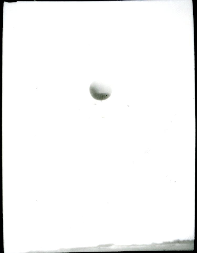 Kulballong m/1930  i luften ovanför Bulltofta.