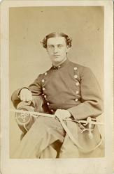Porträtt av Johan Zacharias Gustaf Wikström, officer vid And