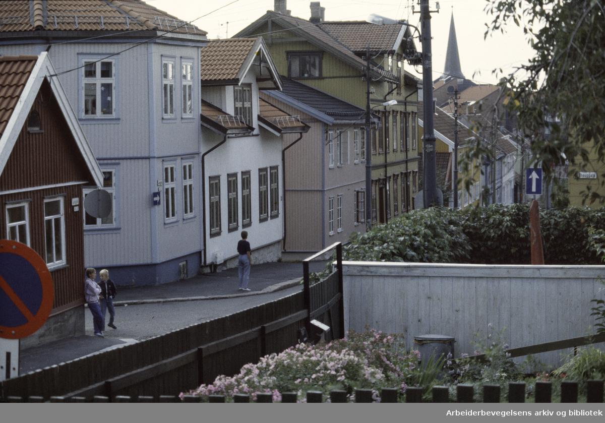 Rodeløkka: Langgata. August 1989