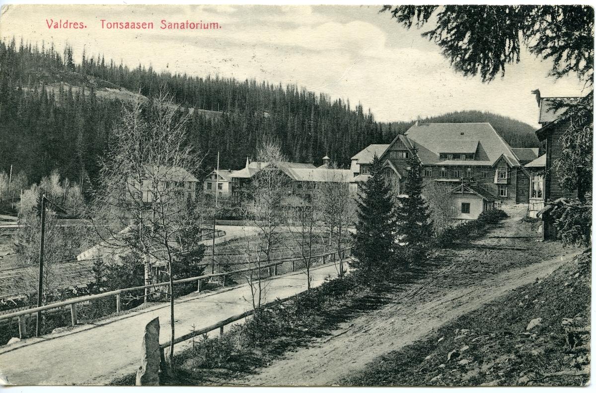 Postkort fra Tonsåsen sanatorium. Sendt 03.07.1906.