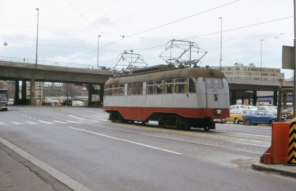 Ekebergbanens sporvogn 1023 i Schweigaardsgate