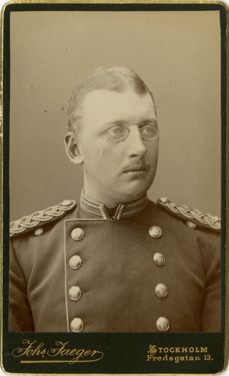 Porträtt av Jakob Henrik Quensel, löjtnant vid Södra skånska infanteriregementet I 25.