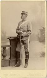 Porträtt av okänd soldat vid Livgardet till häst K 1.