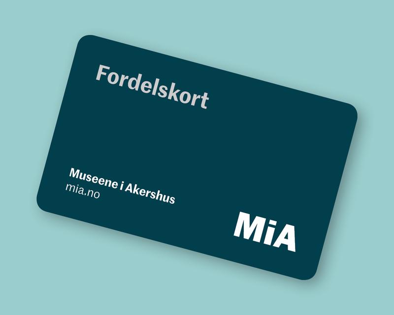Bilde av et plastkort - Museene i Akershus sitt fordelskort