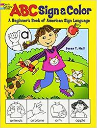 Fargeleggingsbok med ASL (American Sign Language/ Amerikansk tegnspråk) kr 79,- (Foto/Photo)
