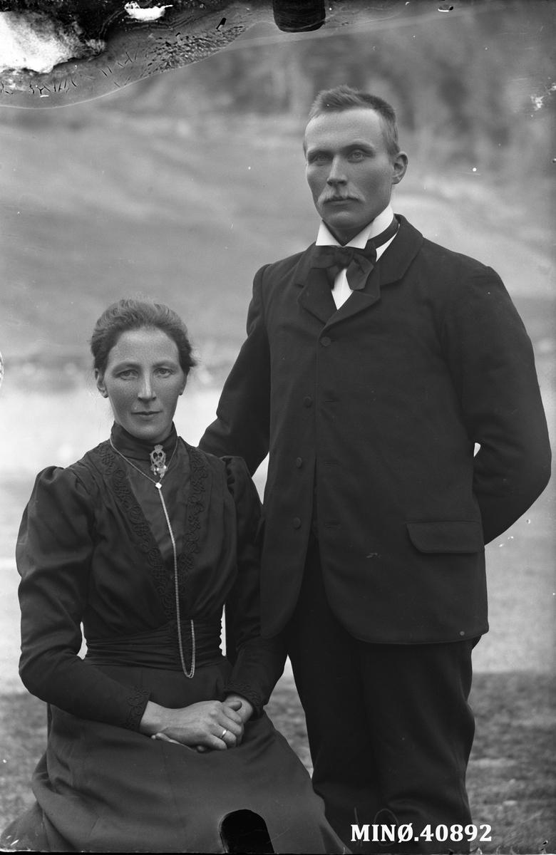 Portrett av ektepar - Branvoldseng