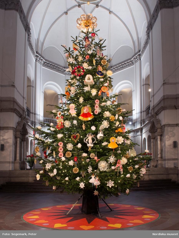 Julgran juldekoration Nordiska museet 2015