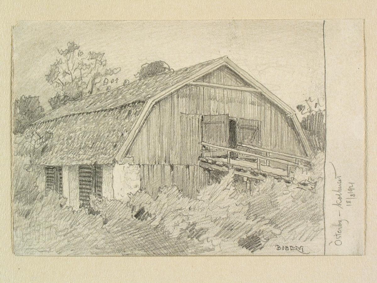Teckning av Ferdinand Boberg. Uppland, Olands hd., Films sn., Österby