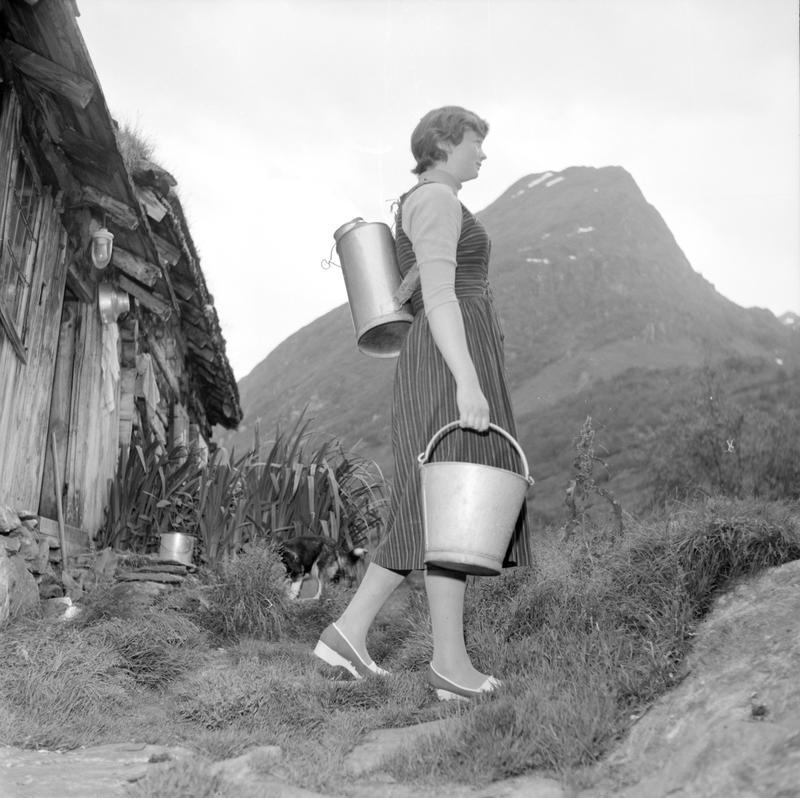 Dame med melkespann 1958-59