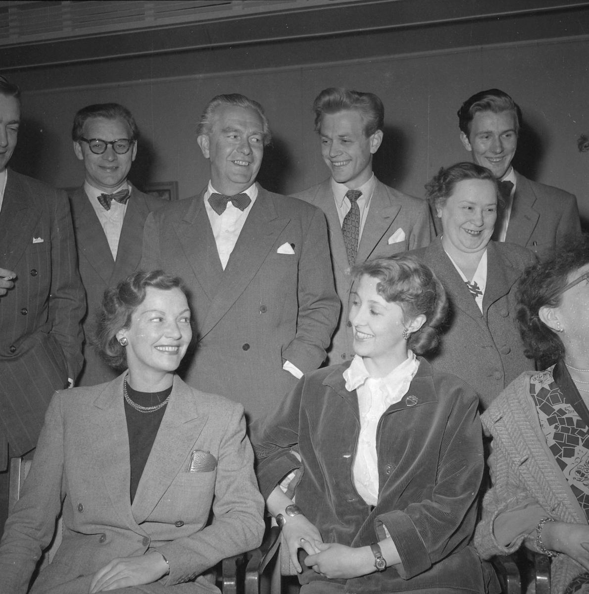 Skuespillere ved Trøndelag teater, høsten 1952