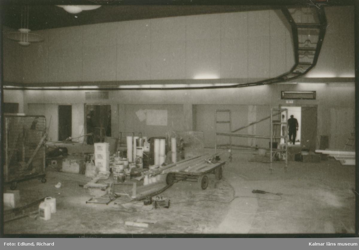 Besiktning av gamla posthuset Guldfisken 2, 26 januari 1998