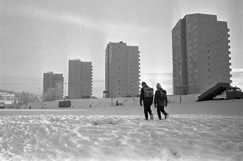 Høyhus på Refstad, Oslo. 1961. (Foto/Photo)