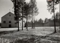 Luleå Trämassefabrik. Fabrikskontor, verkstad och förråd.