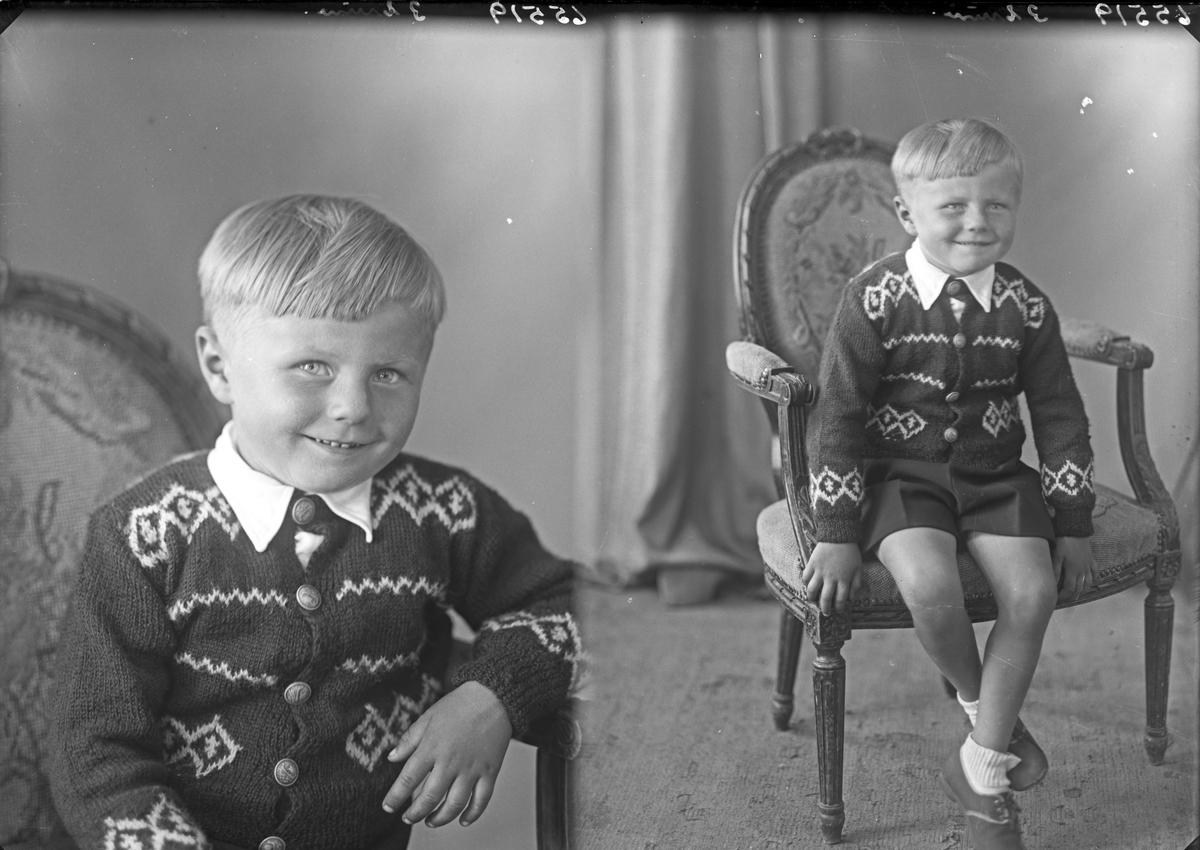 Portrett. En ung gutt. Bestilt av Ola Stoknes. Espevær.