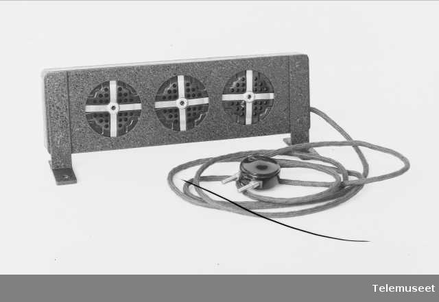 Kirkemikrofon, 3-cellet, Elektrisk Bureau.