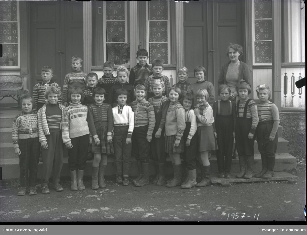 Skolebilde fra folkeskole, Finne skole.