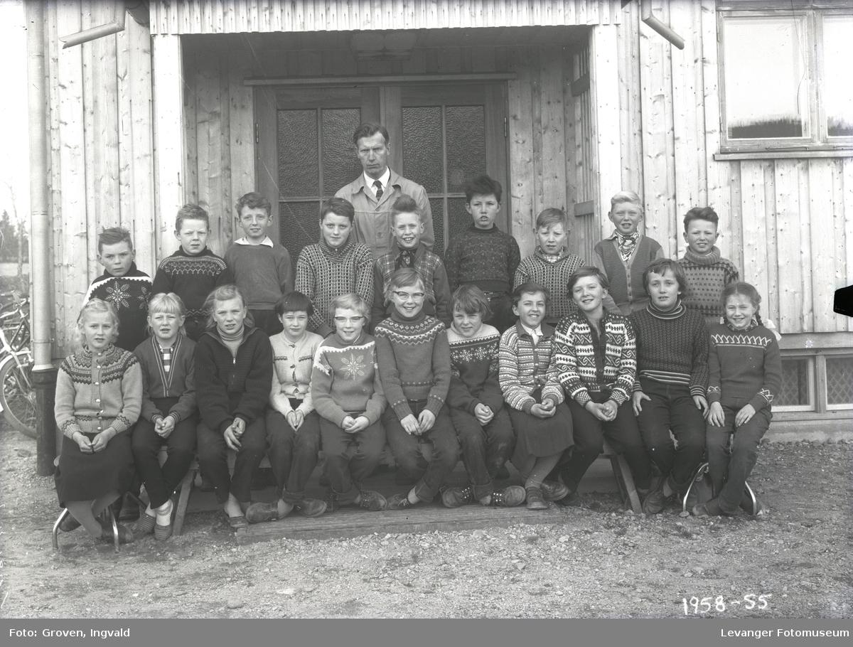 Skolebilde fra folkeskole, Vinne skole.