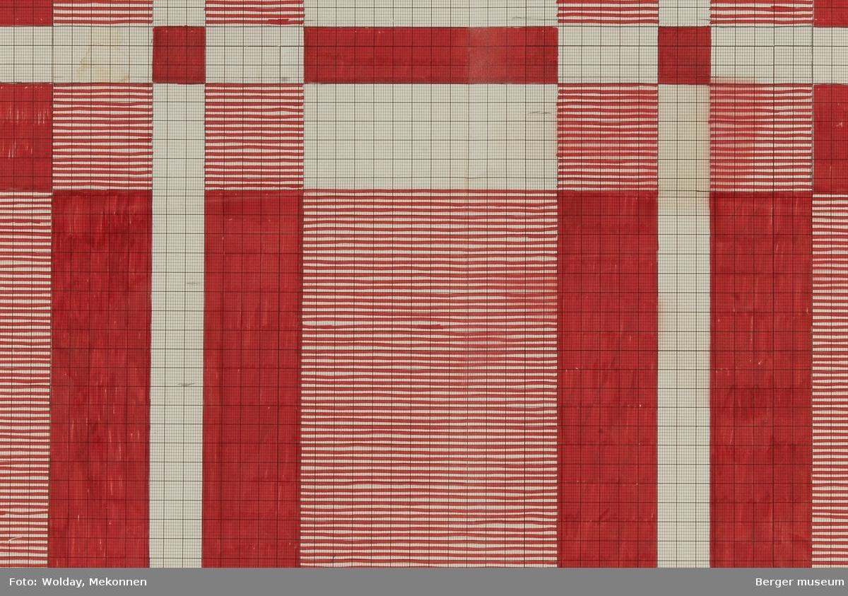 Rutemønster. Rektangel. (Til pledd/teppe)