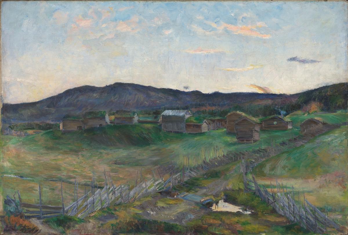 Fra Strålsjøen, høst [Maleri]