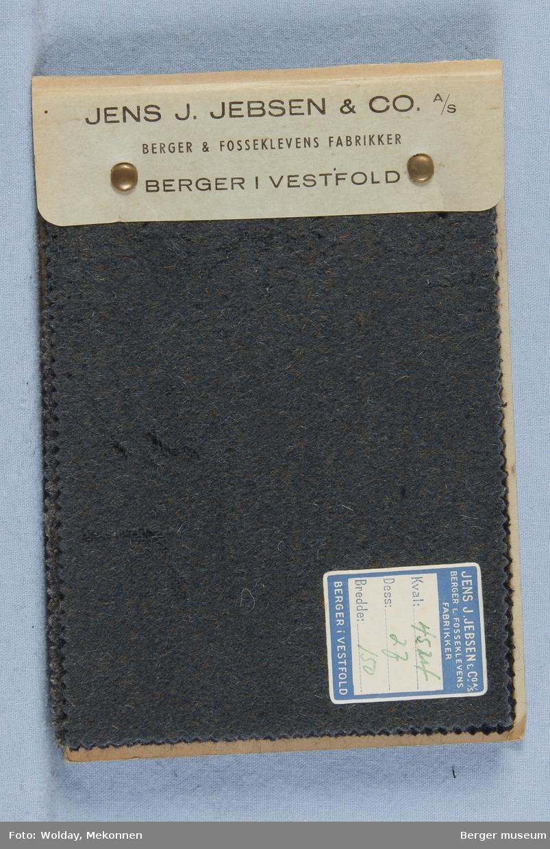 Prøvebok med 6 prøver Frakkestoff Melert Kval. 4524