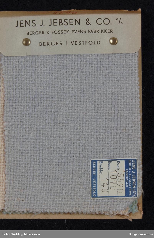 Prøvehefte med 5 prøver Stykkfarget Kvalitet 5590 Vårkåpe
