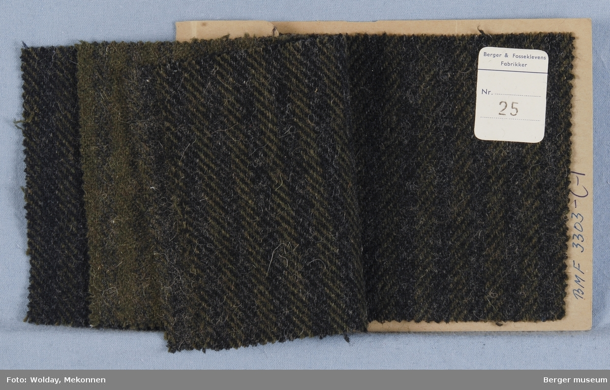 Prøvehefte med 5 prøver Frakk Kvalitet 5956 Melert