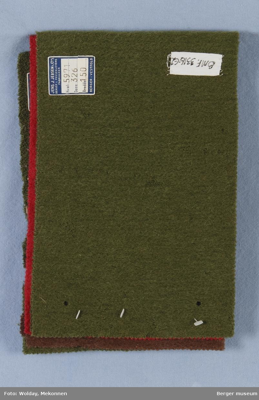 Prøvehefte med 4 prøver Kåpe Kvalitet 5971 Stykkfarget