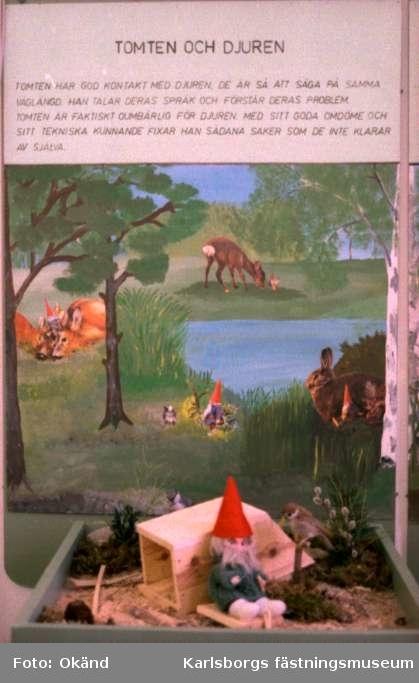 """Karlsborgs museum. Utställningen """"I sagans värld"""" år 1982 - 83. Endast neg finns."""