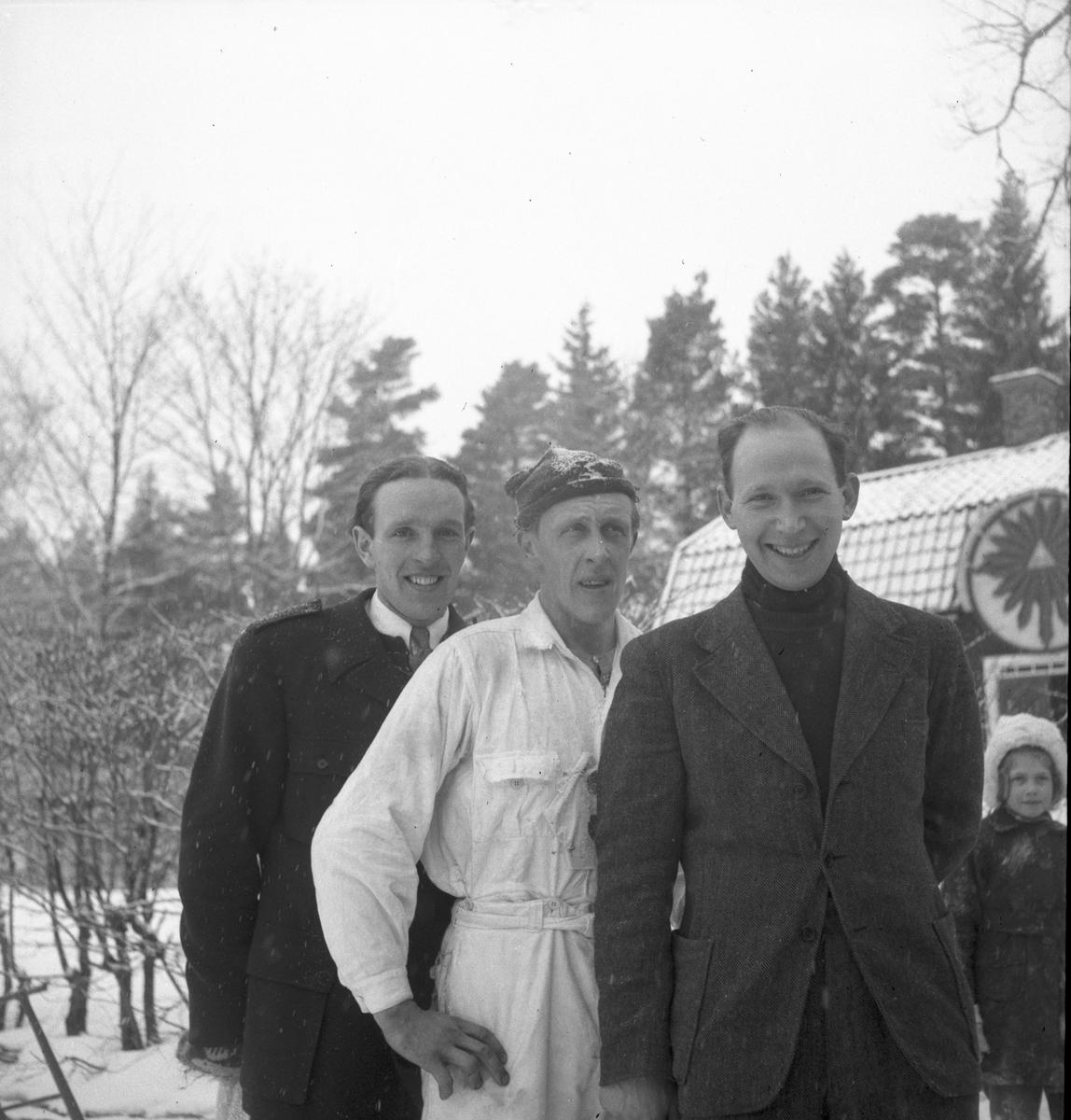 E Bohlin, E Södergren och T Larsson.