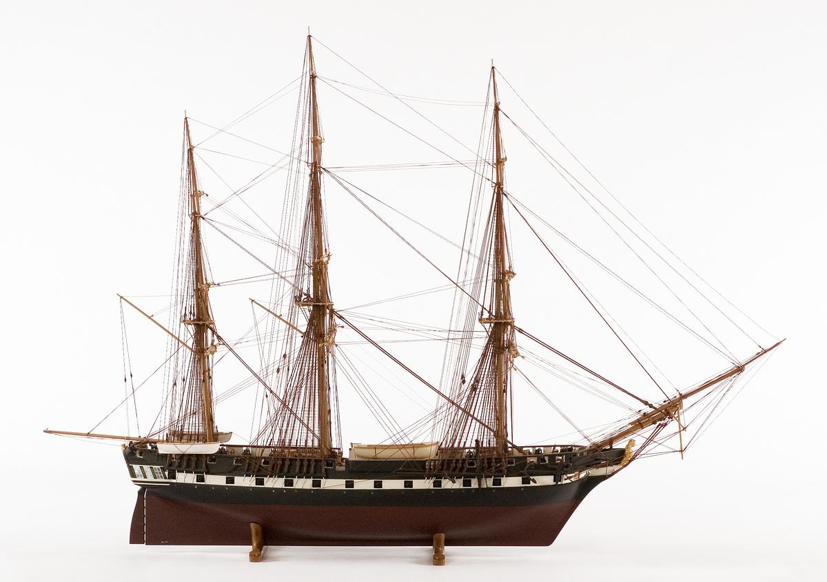 Fartygsmodell av fregatten EUGENIE.