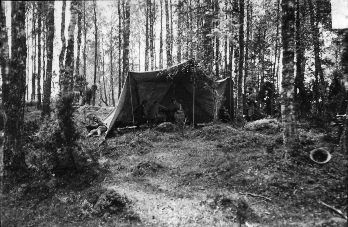 Signalövning, A 6, uppehållsplats vid Grefby.